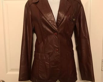 Vintage 1970's Etienne Aigner Leather Jacket sz 6