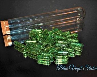 Glass Tube Glitter, Chill Pills, Emergency Chill Pill, Party Favor, Glitter Pills, Sparkle Capsule, Sparkle Chill Pills, Glitter Capsule,