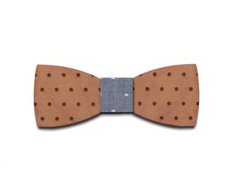 Bow tie Mr .APOIS wooden