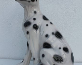 Italian Dalmatian  Spotted  Dog Sculpture.
