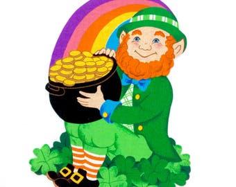 St. Patrick's Day, LEPRECHAUN, MAGNET,  Irish, Shamrock, Luck of the Irish, Irish Gifts, St Patricks Decor, Irish Magnet, Lucky Charm