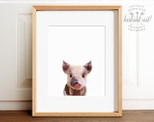 Nursery animal print PRINTABLE art,baby pig print,nursery decor,animal art,baby animals,nursery wall art,piglet print,kids art,baby animal