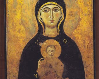 Madonna Nicopeia (9th or 10th century), St. Luke,  St. Mark's Basilica,Venice, Italy. Christian orthodox icon.FREE SHIPPING