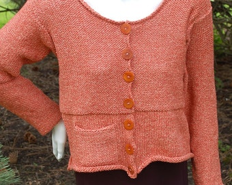 Women's Cardigan, Knitting Pattern, Hand knit Cardigan, Cropped Cardigan, Cardigan to Knit, Textured Sweater, Easy to Knit Cardigan