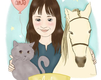 Portrait of your child - custom illustration