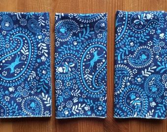 Blue Paisley Everyday Cloth Napkins, Set of 8
