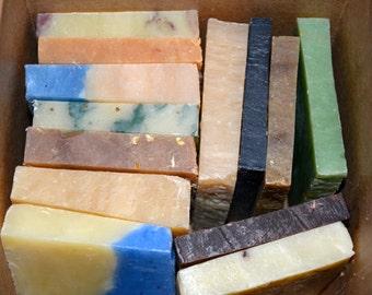 Large Soap Sampler for Men, Gift Set for Men, Soap Ends, Soap for Men, All Natural soap, Handmade soap, Essential oil soap