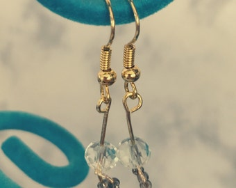 Earrings with  sparkly bead details Gold Plated