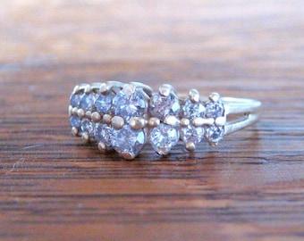 Vintage Art Deco Diamond Ring   14K Gold, Genuine Diamonds   Antique Art Deco Ring