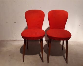 Pair of small chairs 50s