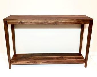 Walnut Entry Table   Sofa Table   Walnut Table   Modern Entry Table    Handmade Sofa