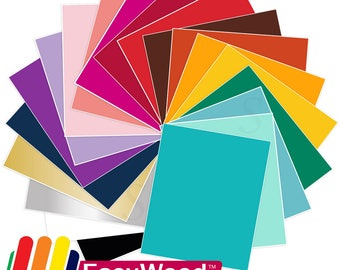 Siser EasyWeed Stretch Heat Transfer All Colors Bundle 20 Sheets - 15 in x 1 Ft