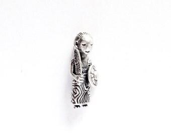 Valkyrie Silver Pendant VIKING KRISTALL 3D