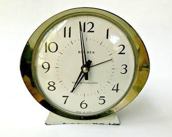 Vintage Westclox Big Ben Style 8 Wind Up Alarm. Desk or Shelf Clock Model 53647.