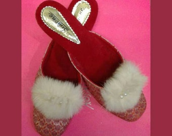 Vintage Glamour Pinup Slippers by Simone
