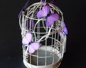 Wedding Birdcage Card Holder, Wedding Card Holder, Birdcage with butterflies, Bridal Shower Birdcage, Wedding Table Centerpiece,Wedding Card