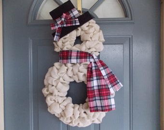 Snowman Burlap Wreath, Winter Wreath, Front Door Wreath, Holiday Wreath, Christmas Wreath, Burlap Wreath, Snowman Wreath, Shabby Chic Wreath