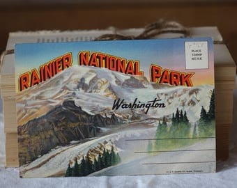 Vintage Rainier National Park, Washington images folder - Greetings from Rainier National Park  - Vintage 1950s