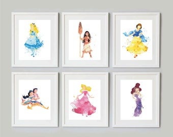 Disney Princess Watercolours