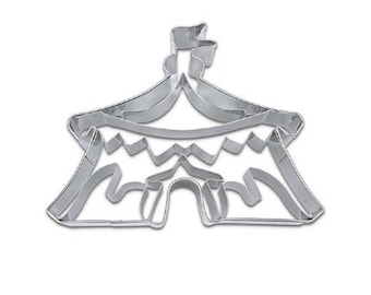 Circus Tent Cookie Cutter, Circus Fondant Cutter, Biscuit Cutter, Baking Supplies, Party Supplies, Party Favours, Circus Tent, Circus Party