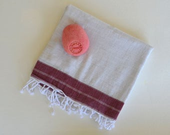 Beach Towel - Turkish Bath Towel - Turkish Blanket -Peshtemal -  Cotton Woven Pure Soft and Light - Bridesmaid  gift -Baby Blanket