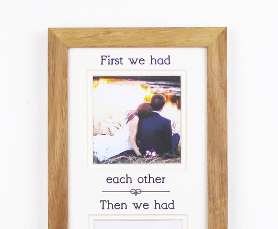 Family Picture Frame Photo Frame New Baby Gift First We
