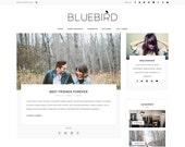 Wordpress theme - wordpress template- Feminine wordpress theme - Responsive WordPress Blog Theme - Fashion Blog template - Bluebird theme
