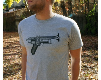 Gun Trumpet T-shirt   Mens' Tshirt