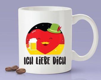 Free Shipping Worldwide - Ich Liebe Dich - German Lover Mug [Gift Idea - Makes A Fun Present] I Love You