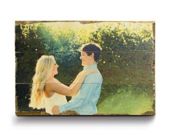 Photo on Wood | Custom Wood Print | Wedding Gift | Picture on Wood | Engagement Gift | Pallet Signs | Wood Print | Rustic Home Decor