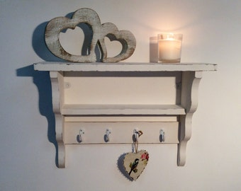 Hand made distressed urban chic shelving