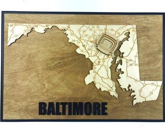 Stadium State Shape - Maryland, Baltimore (M&T Bank Stadium)