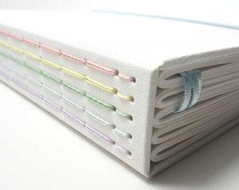 Pastel Rainbow Journal Notebook. Perfect Bullet Journal - No Ghosting! Bullet Notebook, Travel Journal, Dot Grid Notebook, Bujo, Blank Book.