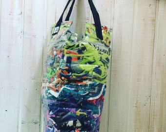 Bag, bag, practically bags, bags, zero waste, waste, utility bag no. repurposed