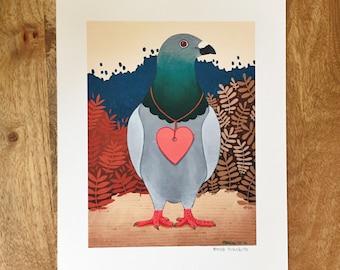 "Pigeon Post 8"" X 10"" Print"