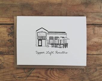Set of Portland Coffee Shop Cards