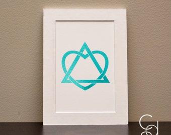 Adoption Symbol Color Foil Print. Adoption Print. Foil Print. Adoption. Adoption Gifts. Color foil. Adoption Nursery Decor