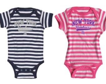 New York Yankees Infant Striped Onesie