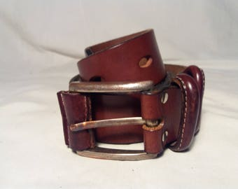 Vintage 1990's  Brown Leather Belt