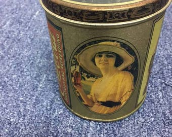 Vintage Bristol Ware Coca Cola Music Canister 1984 Made In USA Still Plays Music