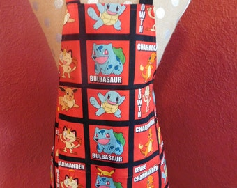 POKEMONS BLOCK CHILDS Apron --  ages 3-7 yrs old