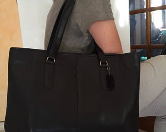 Coach large black leather Coach bag xxl tote bag black leather