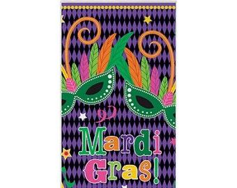 Mardi Gras Plastic Tablecover/Mardi Gras Themed Tablecover/Mardi Gras banquet table tablecover