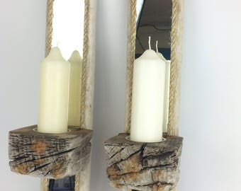 driftwood candle holder/sconce
