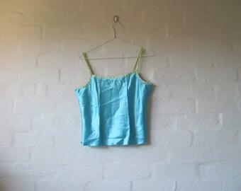 blue + green naughties cami