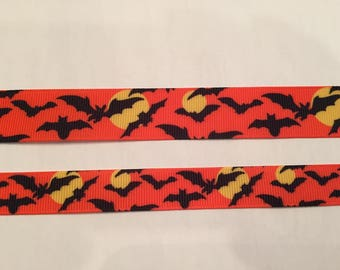 "Bats 5/8"" and 7/8"" Grosgrain 2 Yards or More Ribbon"