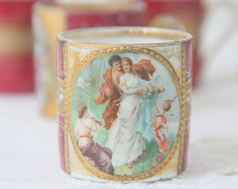 Rare Antique Royal Vienna Style Demitasse Cup, Francois Boucher, Beehive Shield Mark