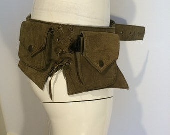 Leather Utility Belt, Hip bag, festival Belt, Quality handmade pockt belt, hippie belt, money belt, psy belt, soulspirit, goa, boho, trance