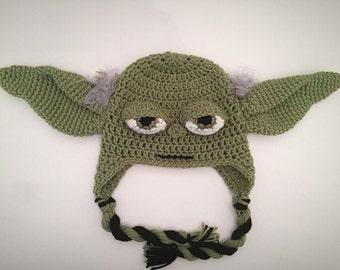 Crochet Star Wars Yoda Inspired Hat PATTERN