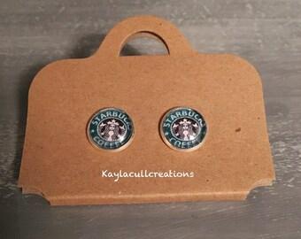 Starbucks stud earrings